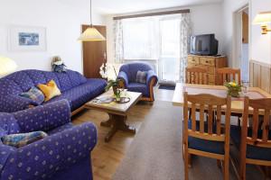 Ferienwohnung Borkum Wohn- und Essraum | Ferienwohnungen Büsum Haus Sonnenschein
