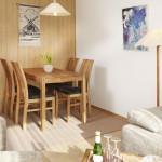 Ferienwohnung Föhr - Kombinierter Wohn-Ess-Schlafraum mit Verwandlungssofa | Ferienwohnungen in Büsum Haus Sonnenschein