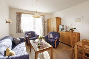Ferienwohnung Helgoland - Wohn- und Essraum | Ferienwohnungen Büsum Haus Sonnenschein