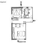 Ferienwohnung Helgoland Wohnungsschnitt | Ferienwohnungen Büsum Haus Sonnenschein