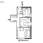 Ferienwohnung Amrum Wohnungsschnitt | Ferienwohnungen Büsum Haus Sonnenschein