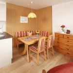 Ferienwohnung Norderney - kombinierter Wohn-Ess-Schlafraum mit Verwandlungssofa | Ferienwohnungen Büsum Haus Sonnenschein
